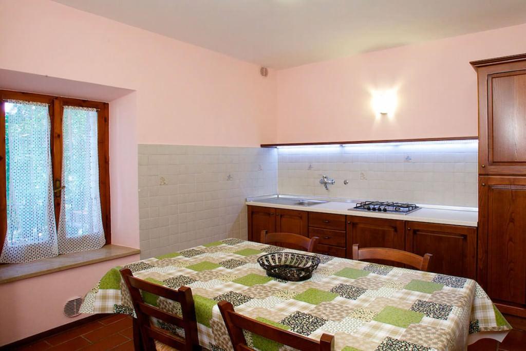 appartamento con cucina in agriturismo assisi